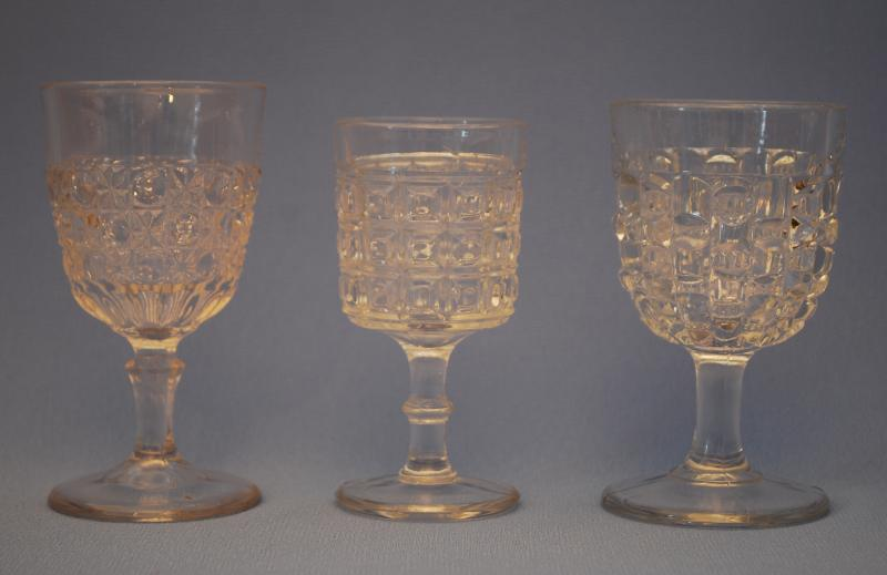 Pressed Glass Wine Glasses