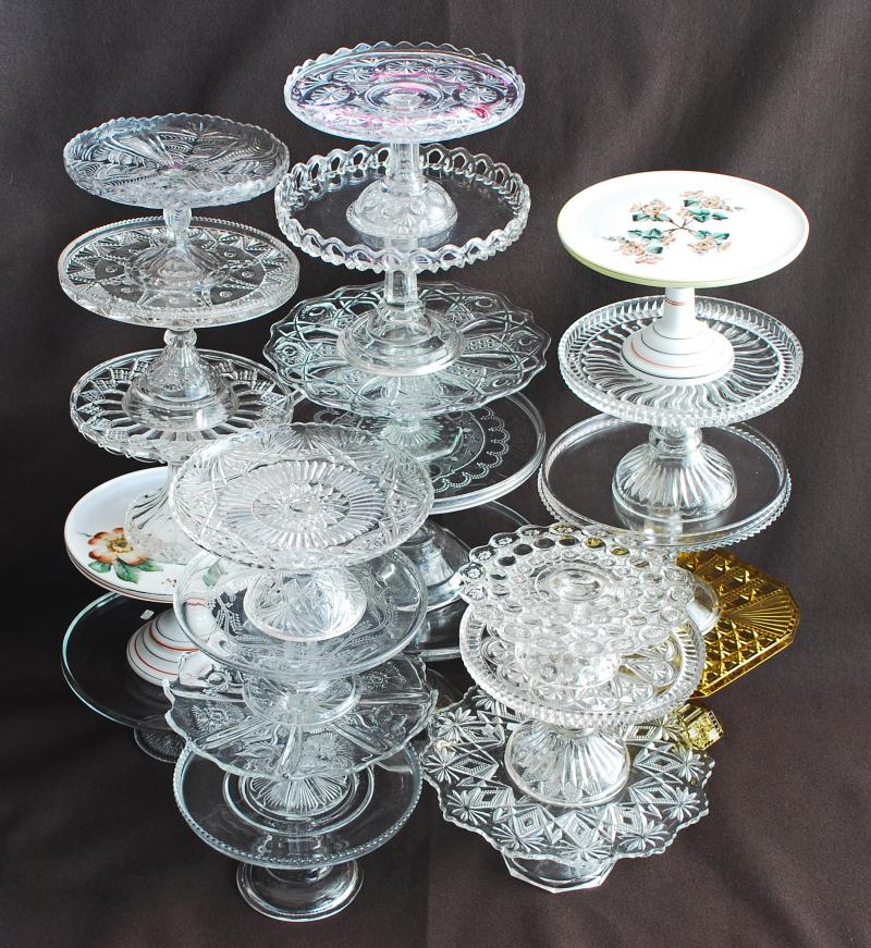 Antique Glass Cake Stands & Silver Quill Antiques and Gifts - Antique Glass Cake Stands