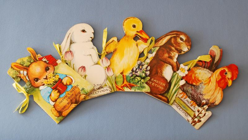 Old Fashioned Easter Story Books by B. Shackman Company