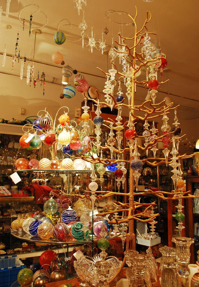 Contemporary Art Glass Ornaments