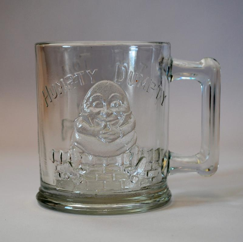 Antique Humpty Dumpty - Tom Thumb Glass Mug