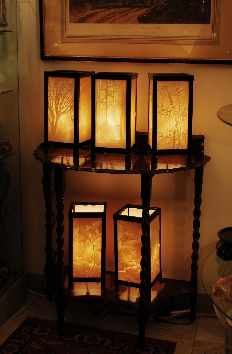 Lithophane Lamps By Porcelain Garden. Lithophane Lamps