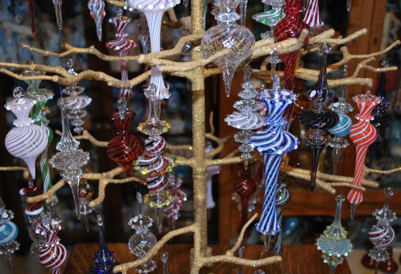 James F. Byrnes Glass Ornaments